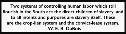 WEB DuBois quote 1901, Slavery Convict Lease