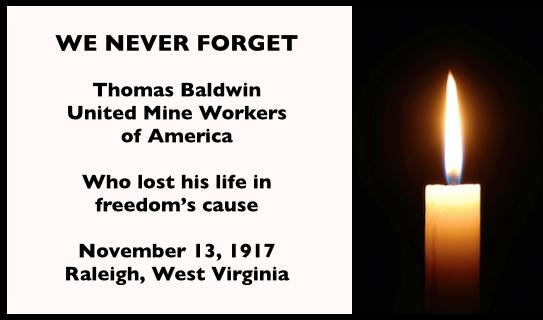 WNF Thomas Baldwin, UMW, Raleigh WV, Nov 13, 1917