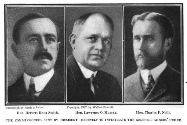 Goldfield Strike, Cmrs Smith Murray Neill, AmRofR, Jan 1908