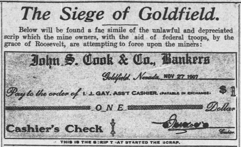 Goldfield Strike, Scrip, AtR p4, Dec 28, 1907