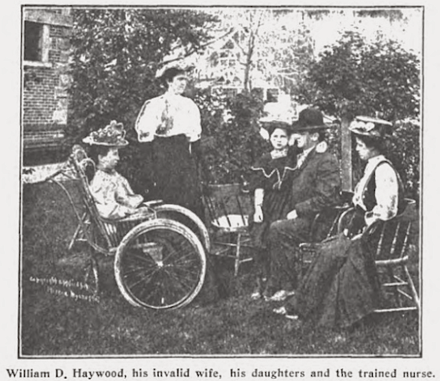 Ada County Jail, Haywood with wife and daughters, Wilshires July 1907