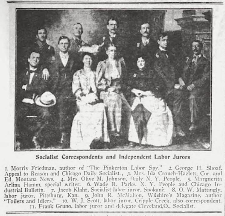 Boise Socialist Correspondents, Indp Labor Jurors, Wilshires Aug 1907