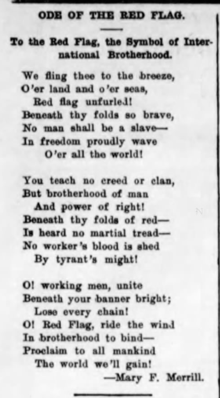 Red Flag Poem by Mary F Merrill, MTNs p3, Feb 13, 1908