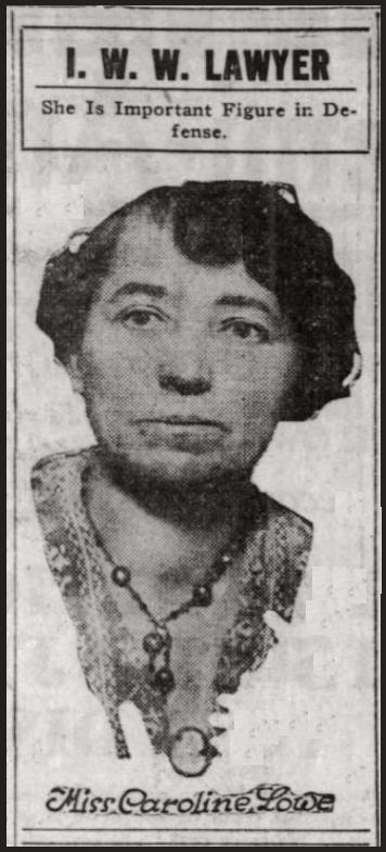 WWIR, Caroline Lowe IWW Lawyer, Chg Tb p13, Feb 4, 1918